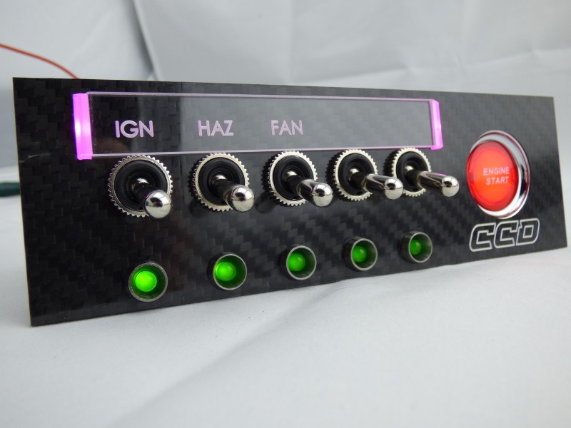 Single Din Switch Panel – Custom Cluster Development