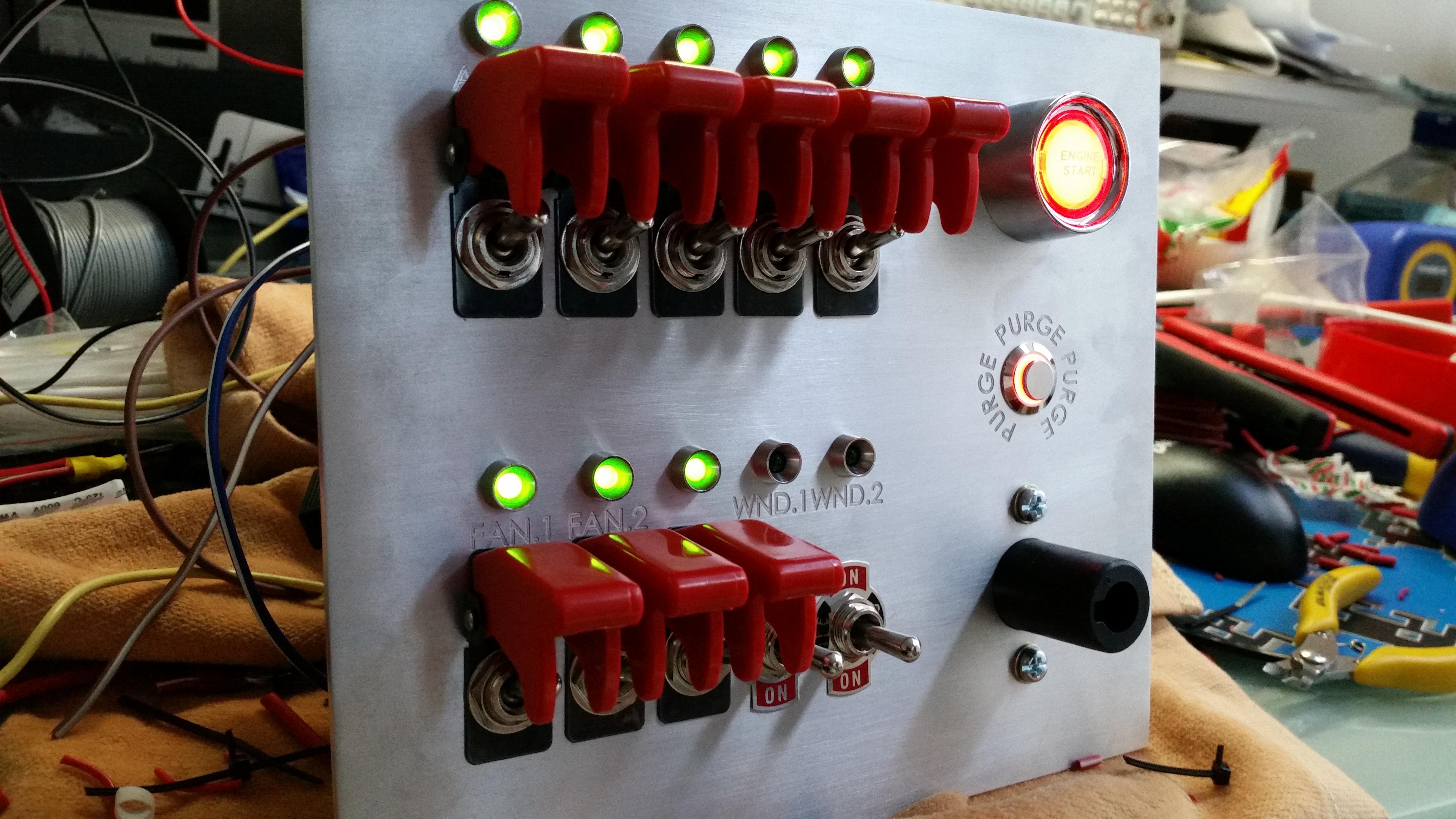 R32 Brushed Aluminium Switch Panel  U2013 Custom Cluster