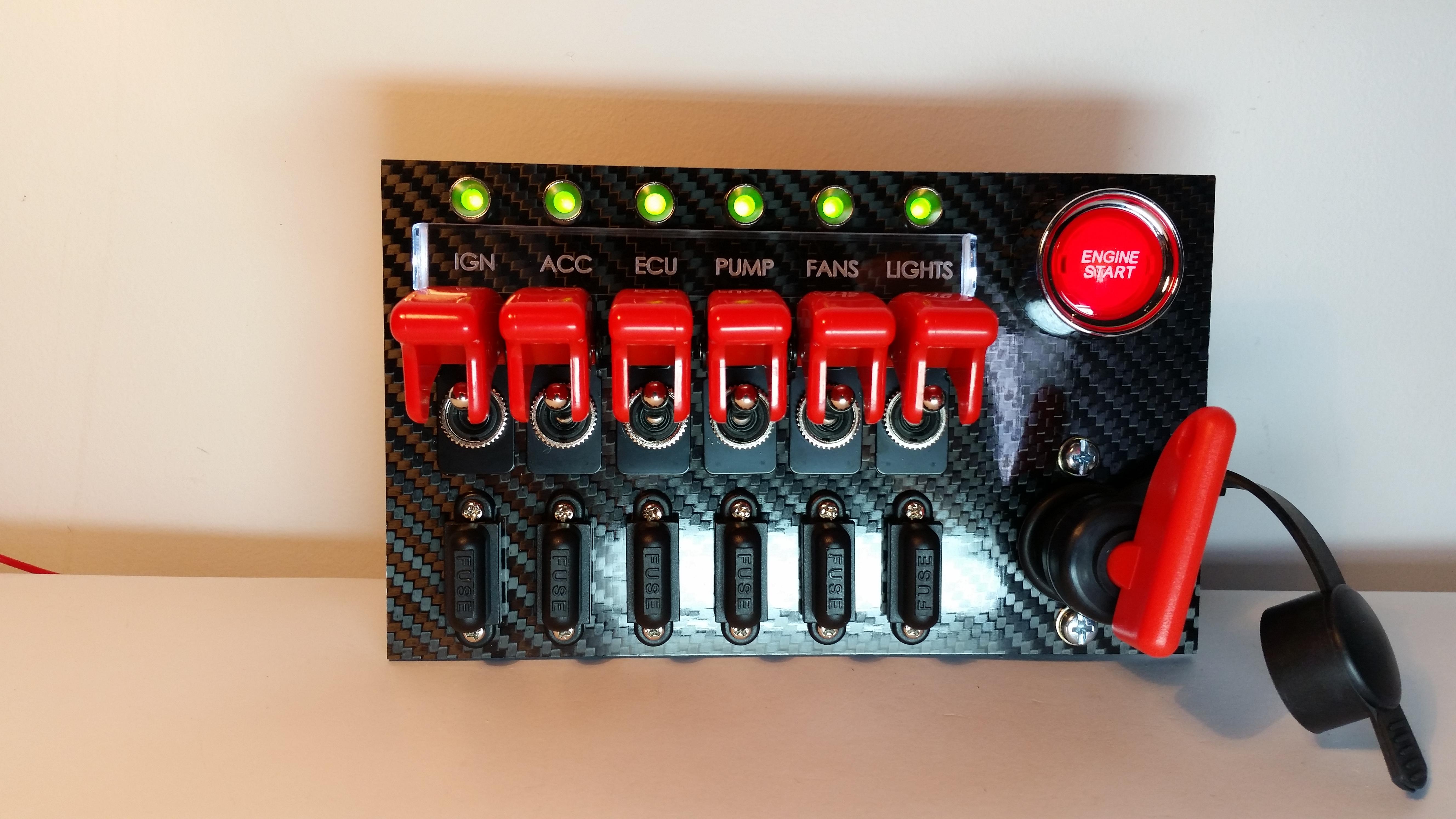 S13 180SX 240SX Center Switch Panel – Custom Cluster DevelopmentCustom Cluster Development
