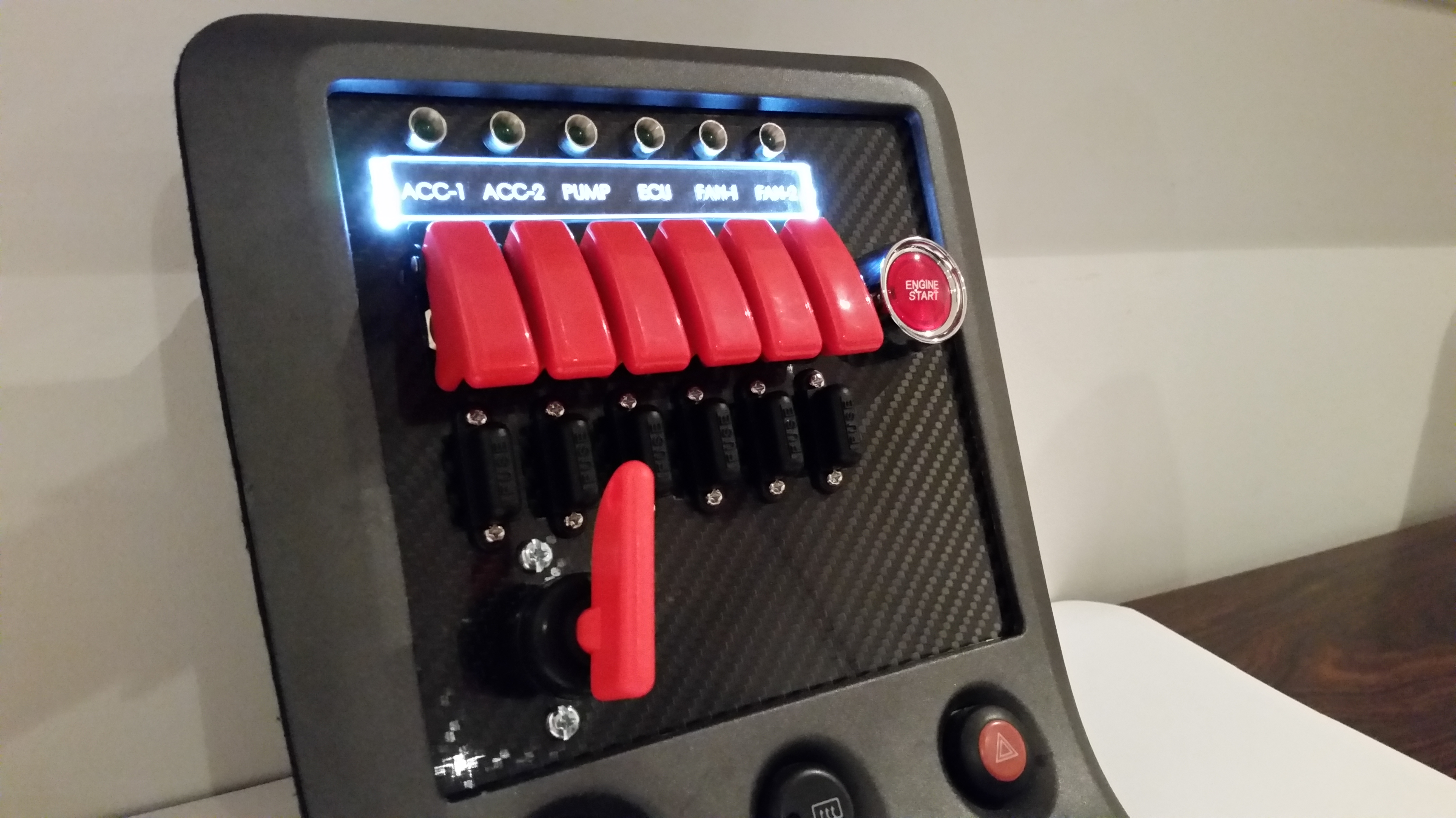 S15 Carbon Switch Panel Custom Cluster Development